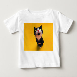 Black and white cat-tuxedo cat-pet kitten-pet cat baby T-Shirt