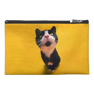 Black and white cat-tuxedo cat-pet kitten-pet cat travel accessory bag
