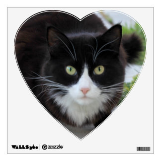 Black and white cat wall sticker