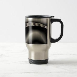 Black and White Caterpillar Travel Mug