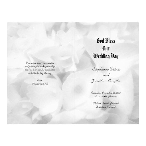 Black and White Catholic Ceremony Wedding Program Flyer