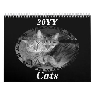 Black And White Cats Calendar