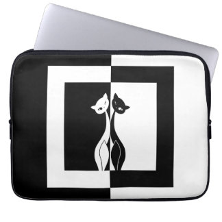 Black and White Cats Computer Sleeve