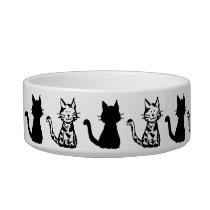 Black and White Cats Pattern Small Bowl