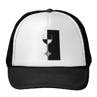 Black and white caused half full glass trucker hat