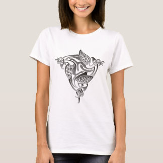 Black and White Celtic Bird T-Shirt