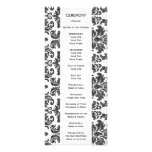 Black and White Chalkboard Damask Pattern Full Color Rack Card