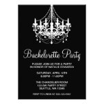 Black and White Chandelier Bachelorette Party Personalized Invite