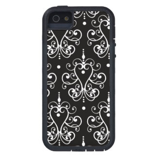 Black and White Chandelier Damask Pattern iPhone 5 Covers