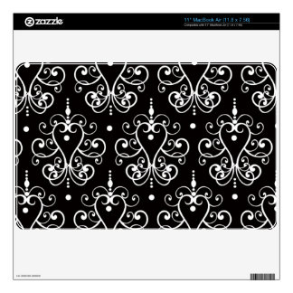 Black and White Chandelier Damask Pattern Decal For The MacBook