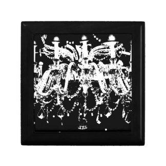 Black and White Chandelier Keepsake Box