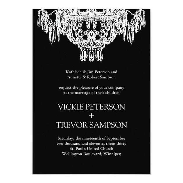 Black & White Invitations with luxury invitation ideas