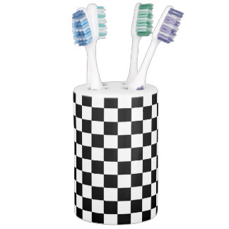 Black and White Check pattern Bathroom Sets