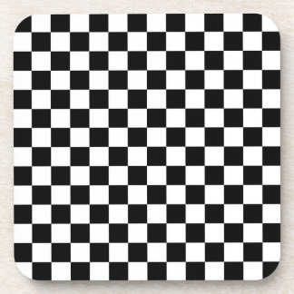 Black and White Check pattern Coaster