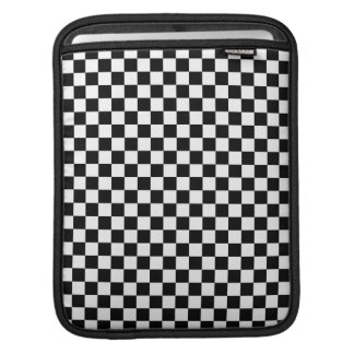 Black and White Check pattern Sleeves For iPads