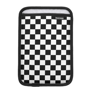 Black and White Check pattern Sleeve For iPad Mini
