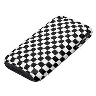 Black and White Check pattern iPhone 3 Tough Case