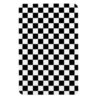 Black and White Check pattern Magnet