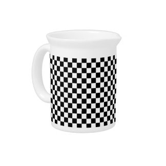Black and White Check pattern Pitcher