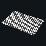 """Black and White Check pattern Placemat<br><div class=""""desc"""">Black and White Checkered pattern  Black and White Checkerboard  Black and White Checkers  Black and White Checked  Black and White Checks</div>"""