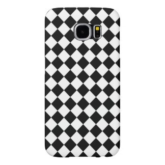 Black and White Check pattern Samsung Galaxy S6 Case