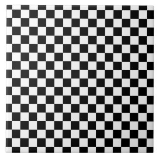 Black and White Check pattern Tile