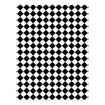 Black and White Checked Design Postcard