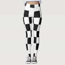 Black and White Checked Leggings
