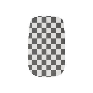 Black and White Checked  Minx Nails Minx Nail Art