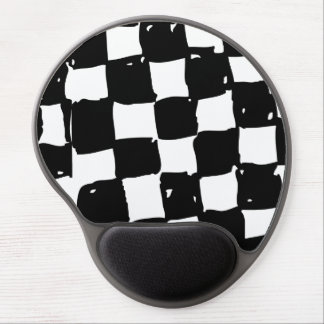 Black and White Checker abstract Gel Mouse Pad