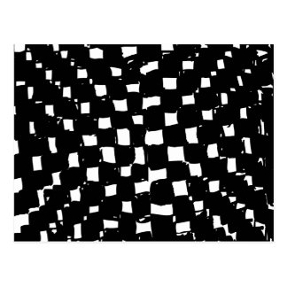 Black and White Checker abstract Postcard
