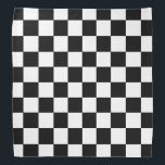 """Black and White Checker Board Bandana<br><div class=""""desc"""">This cute bandana is the perfect accessory for you,  your child or your favorite dog.</div>"""