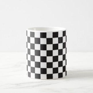 Black and White Checker Board Checks Coffee Mug