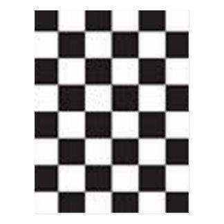 Black and White Checker Board Checks Postcard