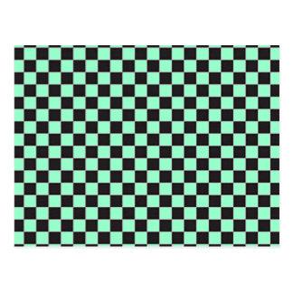 Black and White Checker Board Checks Post Card
