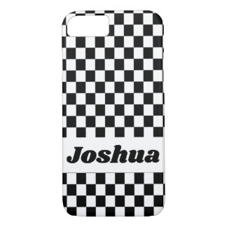 Black and White Checker Flag iPhone 8/7 Case