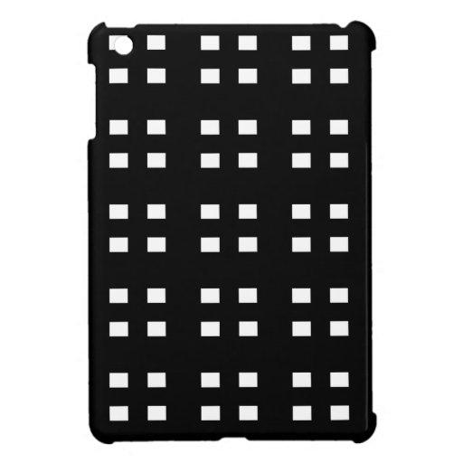 Black and White Checker iPad Mini Covers