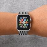 "Black and White Checker Pattern Apple Watch Band<br><div class=""desc"">Cool black and white checkered pattern.</div>"