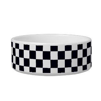 Black and White Checker Pattern Bowl