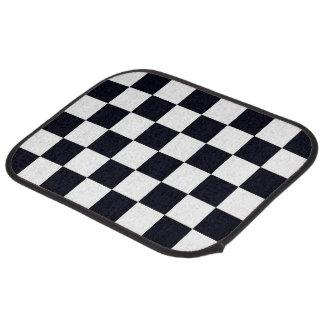Black and White Checker Pattern Car Mat