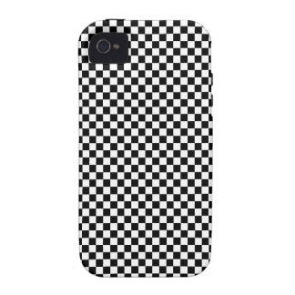 Black and White Checker Pattern iPhone 4/4S Covers
