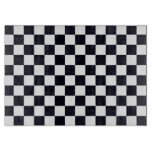 Black and White Checker Pattern Cutting Board
