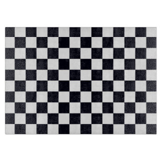 Black and White Checker Pattern Cutting Boards