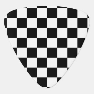 black and white checker pattern guitar pick