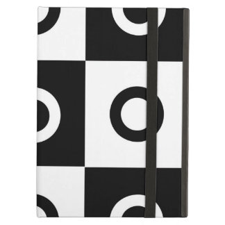 Black and white checker pattern iPad air cover