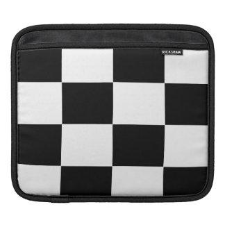 black and white checker pattern ipad sleeve