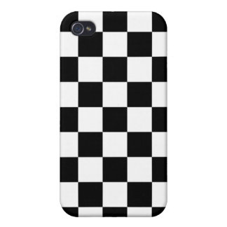 Black and White Checker Pattern Covers For iPhone 4