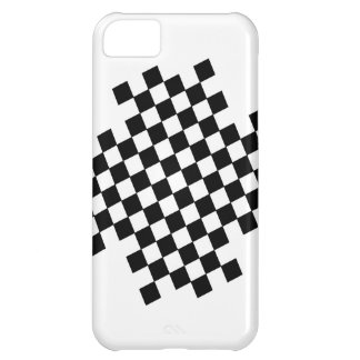 Black and White Checker Pattern iPhone Case