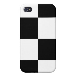 Black and White Checker Pattern iPhone 4/4S Cover