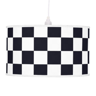 Black and White Checker Pattern Hanging Pendant Lamps